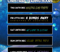 Cocktails Christmas Trading Hours