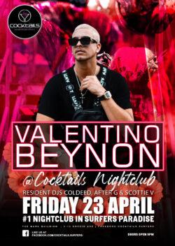 Anzac Weekend with VALENTINO BEYNON!