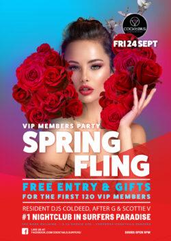 Spring Fling Party @ Cocktails!